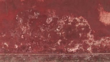 Weathered Red Wall — Stock Video