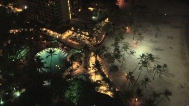 Waikiki gece — Stok video