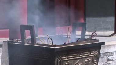 Chinese Incense Burner — Stock Video