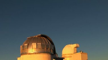 Telescope Observatory Rotating — Vídeo Stock