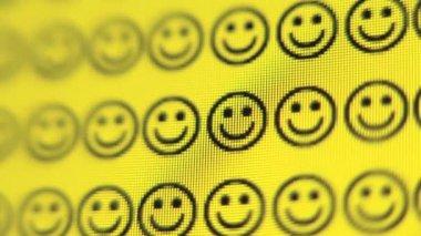 Smiley face texture — Stock Video