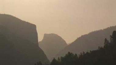 Half Dome at sunrise, Yosemite National Park — Stock Video