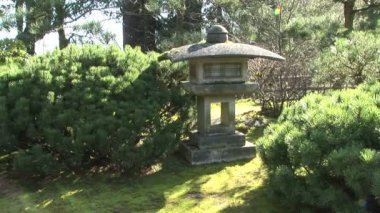 Japanese Stone Lantern — Stock Video