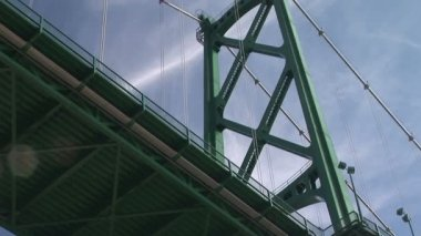 Lions Gate Bridge, Vancouver — Stock Video