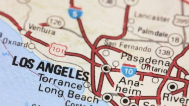 Map of Los Angeles — Stock Video