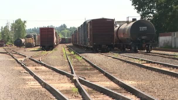 Datos de locomotoras — Vídeo de stock
