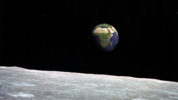 Moon surface and the Earth — Vidéo