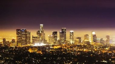 Los Angeles at Night, time lapse — Stock Video