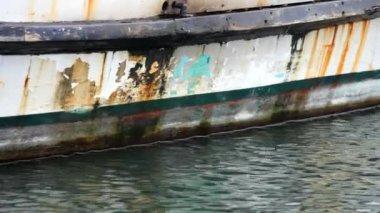 Staré rybářské lodi — Stock video