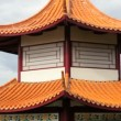 Edmonton Chinese Garden Pagoda — Stock Video