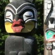 Stanley Park Totem Poles — Stock Video #34412947