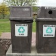 Stock Video: Recycling Bins