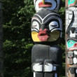 Stanley Park Totem Poles — Stock Video