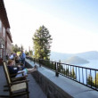 Stock Video: Crater Lake Lodge Balcony