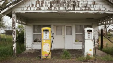 Old Gas Pumps — Stock Video