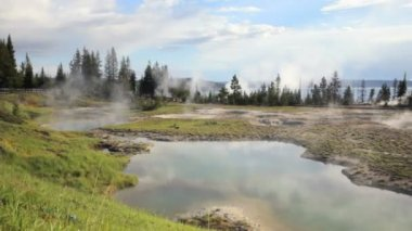 West Thumb Geyser Basin — Stock Video