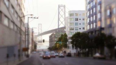 Traffic and Bay Bridge — Video Stock