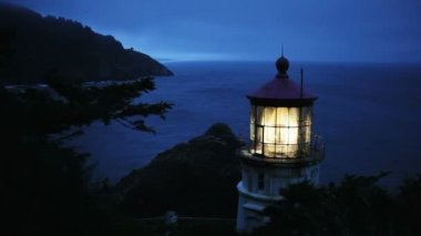 Heceta Head Lighthouse — Stock Video