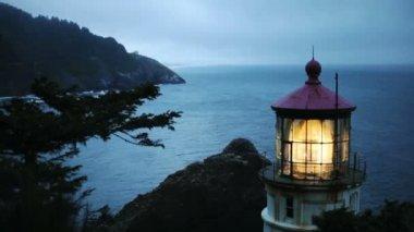 Heceta Head Lighthouse — Stock Video
