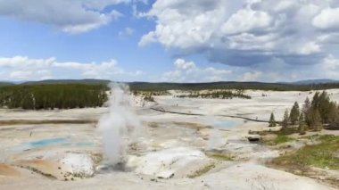 Old Faithful, Yellowstone National Park, Time Lapse — Stock Video