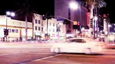 Hollywood Blvd. Time Lapse — Stock Video