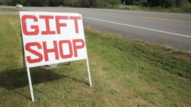 Gift Shop Sign — Stock Video