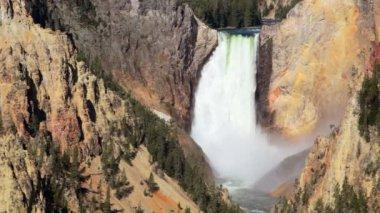 Lower Yellowstone Waterfall — Stock Video