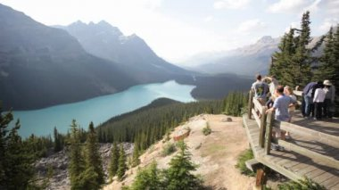 Peyto Lake Overlook — Stock Video
