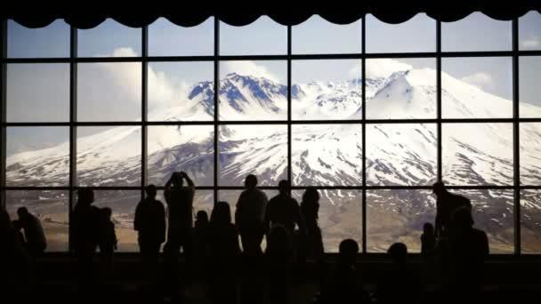 Touristes au mont st-hélène — Vidéo