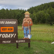 Photo: Fire danger sign