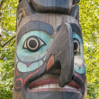 Totem Pole in Pioneer Square park — Stock Photo