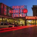 Pike Place Market at Night — Stock Photo