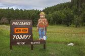 Fire danger sign — Stock Photo