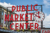 Pike Place Market Sign — Stock fotografie