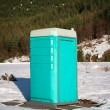 Porta Potty in the Snow — Stock Photo