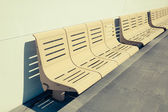 Empty Seats on Ferry Boat — Stock Photo