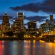 Nighttime Portland Skyline — Foto Stock