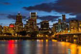 Nighttime Portland Skyline — Stock Photo