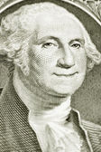 One Dollar Bill with Smiling George Washington — Stock Photo