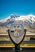 Binoculars at Mt. St. Helens — Stock Photo