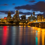 Portland oregon's nachts — Stockfoto