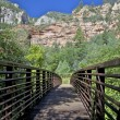 Stock Photo: Footbridge to West Fork Oak Creek