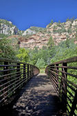 Footbridge to West Fork Oak Creek — Stock Photo