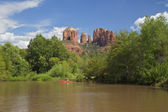 Kayaking on Oak Creek, Sedona Arizona — Stock Photo