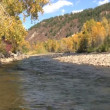 Colorado Mountain River Scenic in Fall - Stock Photo