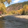 Mountain River Scenic in Fall - Stock Photo