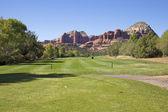 Hoyo de golf en el país de la roca roja — Foto de Stock