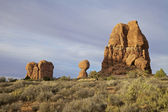 Balanced Rock, Arches N.P. — Stock Photo