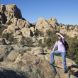 Foto de Stock  : Hiking Granite Dells