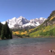 Maroon Bells in Fall — Stock Video